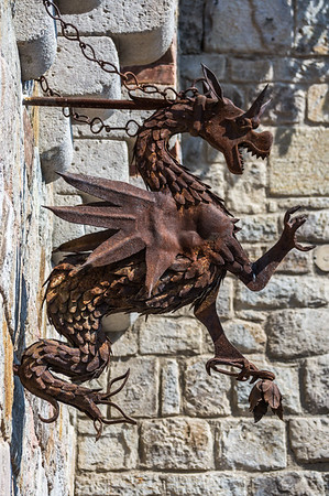 Iron Dragon Sculpture