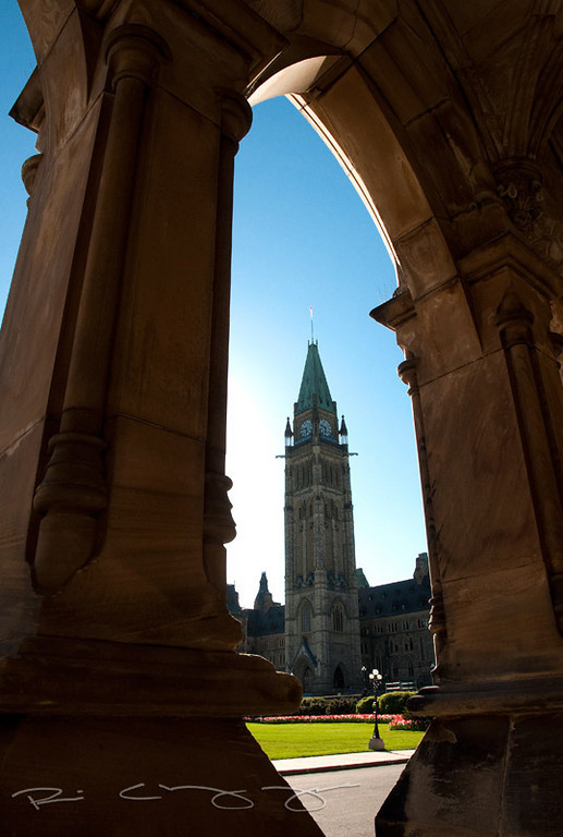 Parliament Hill As Seen Through the East Block - Ottawa, ON