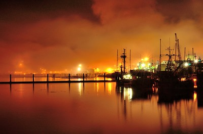 Port Alberni harbour at night