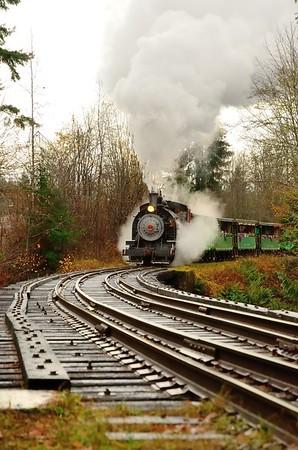 The #7 Baldwin steam locomotive