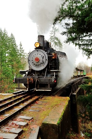 The #7 Baldwin steam locomotive