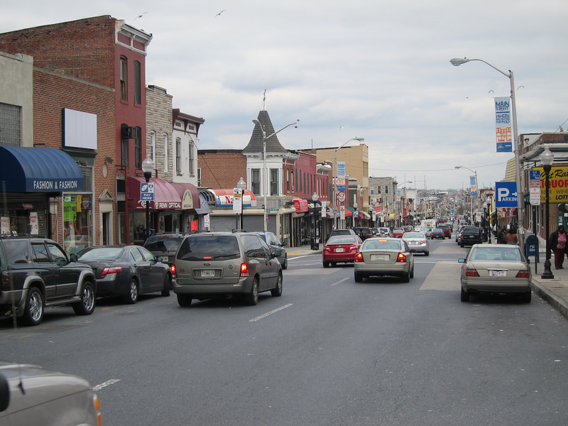 E Monument street shopping district