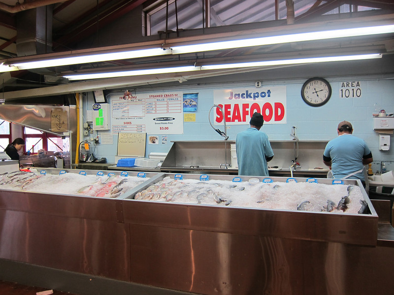 Seafood stand in Northeast Market