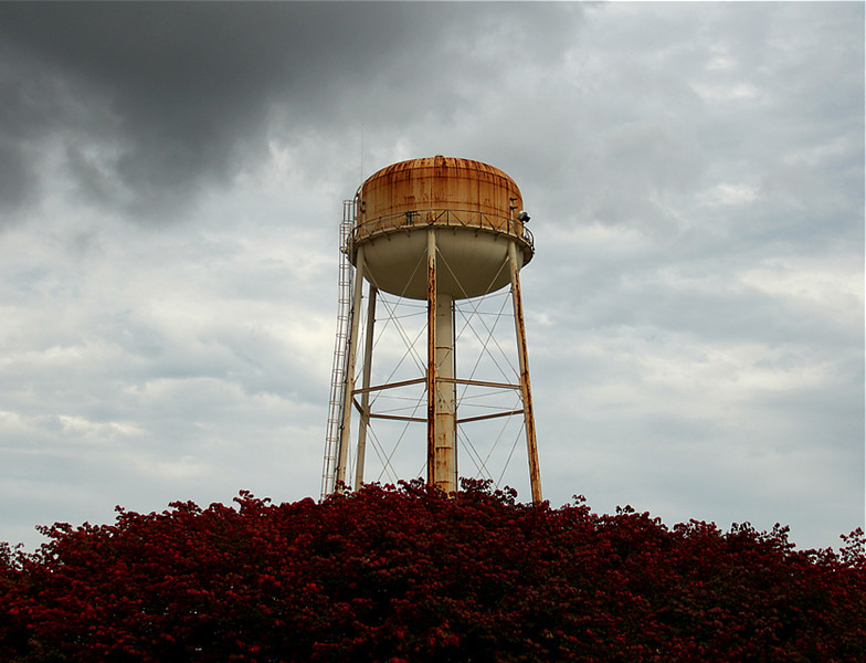 IBM water tower in Kingston NY....plant has been closed for many years.