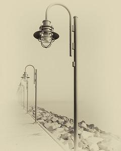 Halifax Boardwalk in the fog