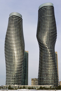 The Marilyn Monroe Towers in Mississauga