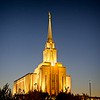 The LDS Oquirrh Mountain Temple in South Jordan, Utah