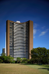 MIAMI - FEBRUARY 1, 2017: Image of the Palm Bay Tower located at 720 ne 69th street completed circa 1970's