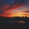 Sunset over Adelphi's Garden City Campus.