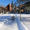Ruth S. Harvey University Center in the wintertime.