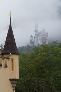 View of , Neuschwanstein from Hohenschwangau