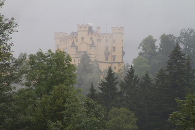 View of Hohenschwangau, from drive into area.