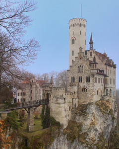 Schloss Lichtenstein Castle - a 3 composite shot and photomerge, along with a little HDR.