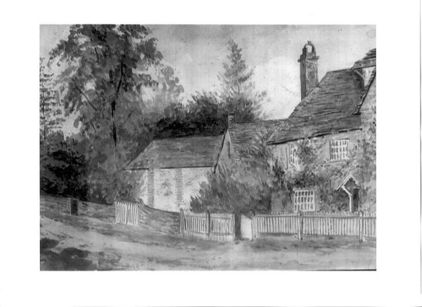 <font size=3><u> - Painting of Aldridge House - </u></font> (BS0505)  Lived in by a member of the Aldridge family in mid 20th century. In Old London Road