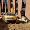 EARLY DEMOLITION AND EXCAVATION: on the east side of the University Center.