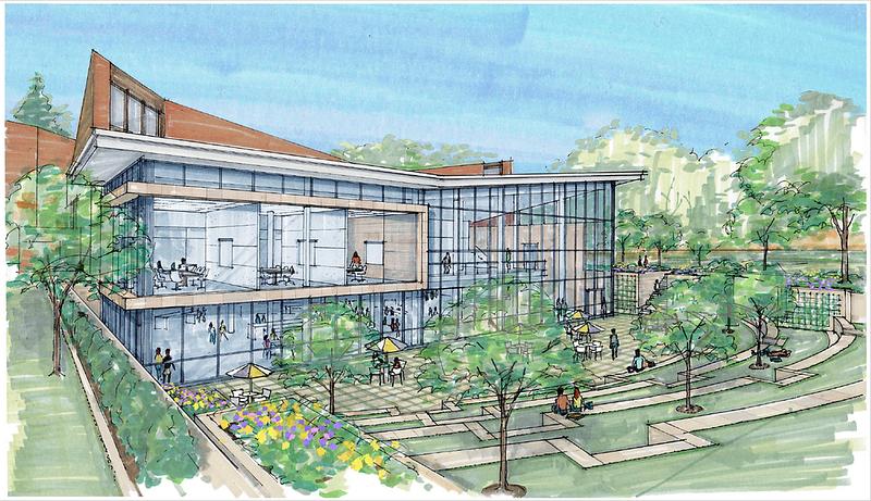 ARCHITECTS' RENDERING: The new Ruth S. Harley University Center at Adelphi University.