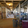 EARLY CONSTRUCTION: newly framed rooms on the right with ductwork for installation.