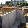 FOUNDATION WORK: West side addition, foundation wall, looking west toward Levermore Hall.