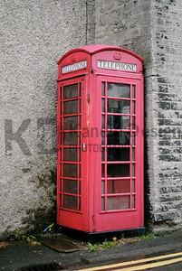 Old Telephone Booth in England.