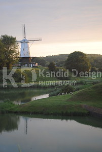 Windmill in Holland Durring Sunset