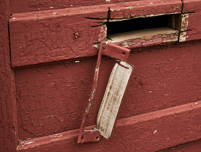 Mail Slot on a Red Door