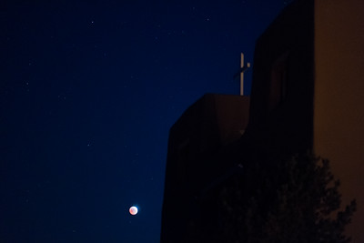 Lunar Eclipse of 4 April 2015 at Nambe Church