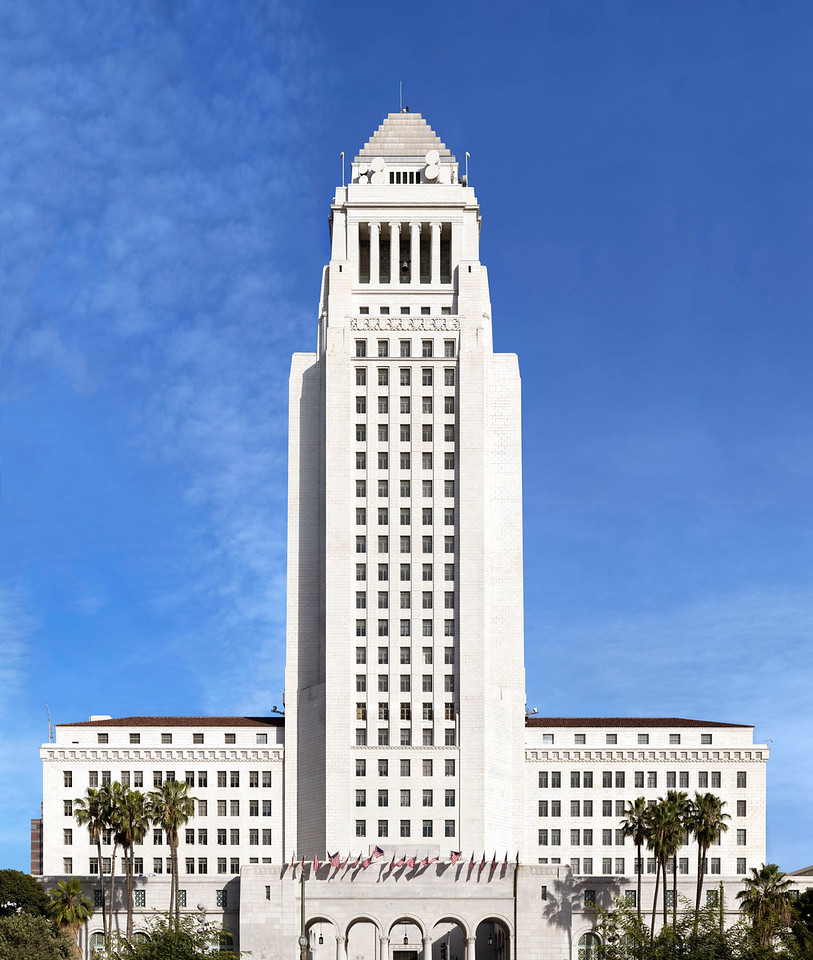 LA City Hall Pano 2015