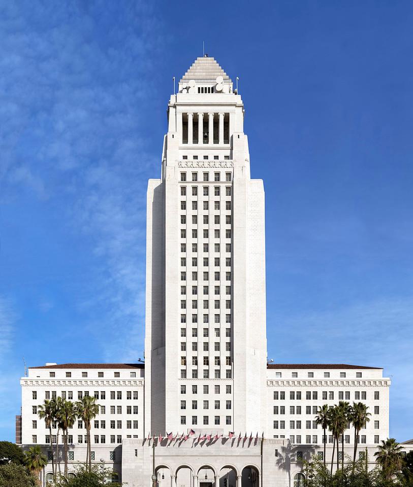 LA City Hall Pano 2015