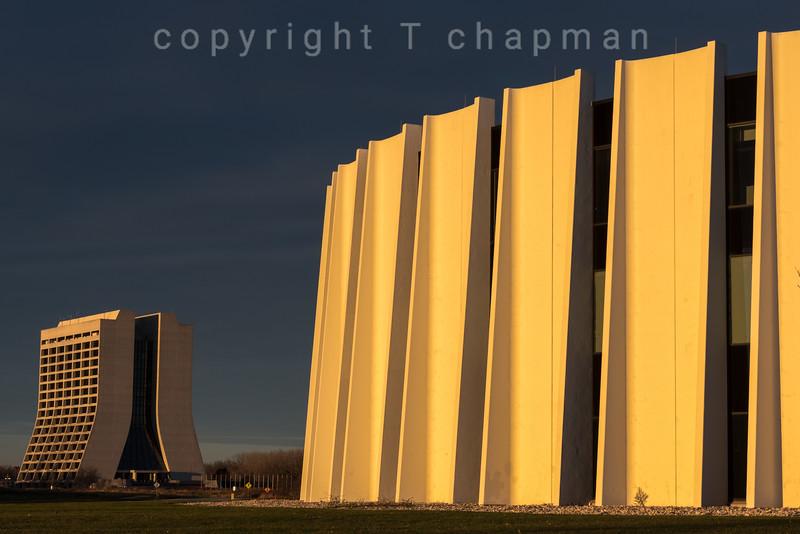 Fermilab Buildings at Sunrise
