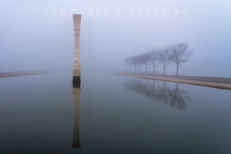 Obelisk in the Fog