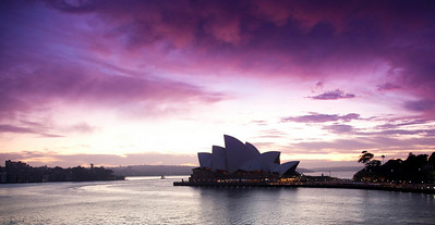 Sydney Opera House - Dawn breaking.