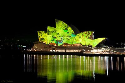 "Sydney Opera House - Vivid Sydney Festival ""Lighting the Sails"" May 26, 2009"