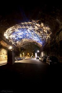 Argyle Cut, The Rocks, Sydney (Lit during the Vivid Sydney Festival)