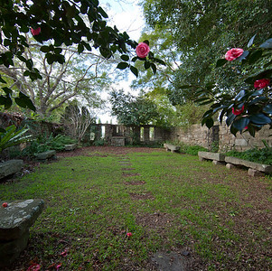 Old courtyard - St John's Theological College, Morpeth, NSW