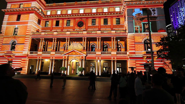 Vivid Sydney 2012 (Movie). Customs House, Circular Quay, Sydney.