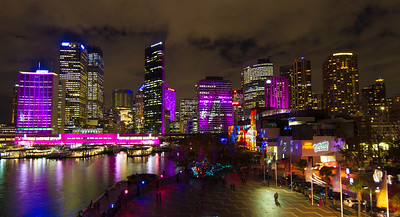 Vivid Sydney 2012. Circular Quay and City skyline