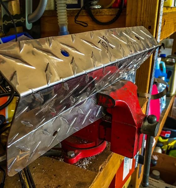 Scored the aluminum a little bit to make hand bending easier