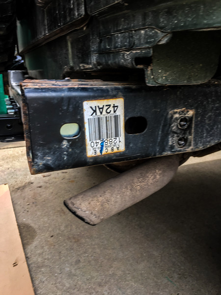 But ran into another issue.. There are no holes on the passenger side like there are on the driver side.. These were supposed to be there.. Again, just a goofy frame.