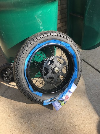 After local shop got the rim on. I added a few more coats of paint.