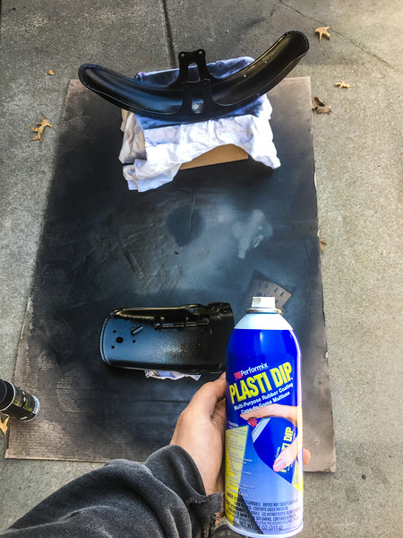 I used Plasti Dip on the inside of the fenders (post already spraying them black) My idea is it will help hold up to water and the abuse. Seemed to work well on my Jeep wheels.