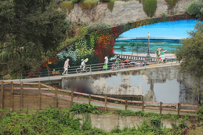 Capitola Mural from the Railroad Trestle