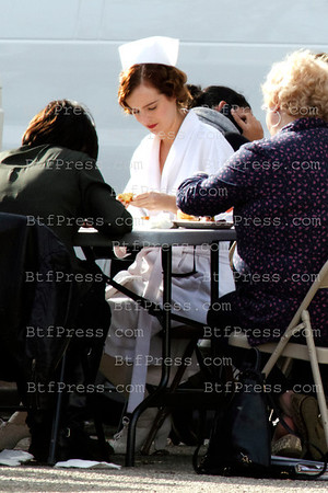 Exclusive__ Director James Franco and cast on the set of Bukoswki at the Linda Vista Community Hospital.
