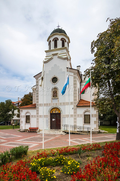 The Birth of the Virgin Mary Church in downtown Pomorie, Bulgaria.