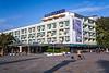 A large hotel overlooking Sea Garden park in Varna, Bulgaria.
