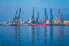 The Black Sea port facilities of Varna, Bulgaria.