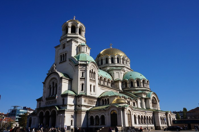 The ever impressive Alexander Nevsky Cathedral in Sofia, Bulgaria.