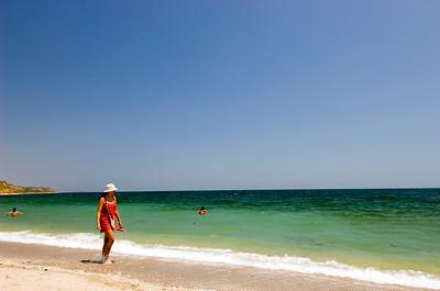 Europe, Romania, Black Sea Coast, Vama Veche fishing village and beach,
