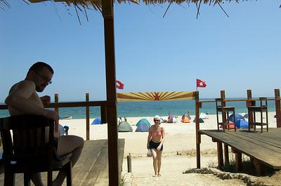 Europe, Romania, Black Sea Coast, Vama Veche fishing village and beach, bar