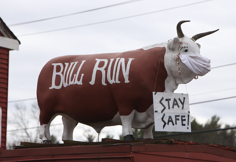 Bull Run Restaurant in Shirley. They are coping with the Covid-19 emergency by doing takeout meals.  (SUN/Julia Malakie)