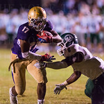 Male\'s Devin Gentry (17) escaped a tackle attempt by Trinity\'s Trey Patterson (6).